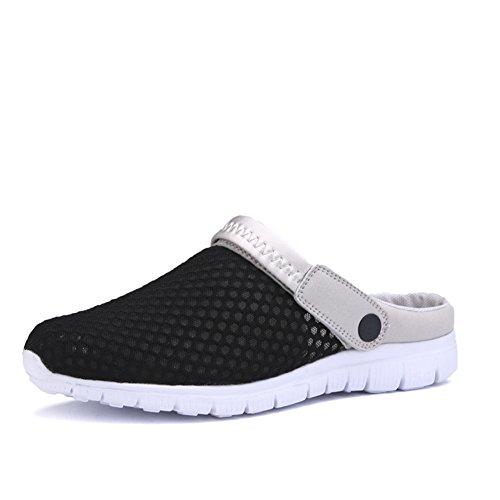SAGUARO® Unisex respirable de la red del acoplamiento zapatillas de playa ahueca hacia fuera las sandalias (38 EU, Verde)