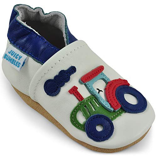 Toddler Shoes - Toddler Boy Shoes with Suede Sole - Tractor - 2-3 Years Old