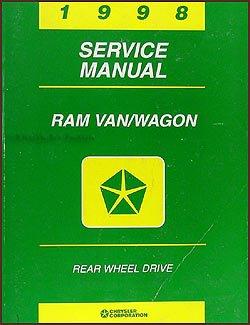 1998 Dodge Ram Van & Wagon Repair Shop Manual Original B1500-B3500 -