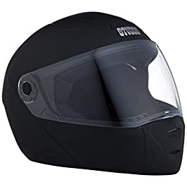 Studds Ninja Elite SUPER Flip Up Full Face Helmet (Matt Black, x-large)