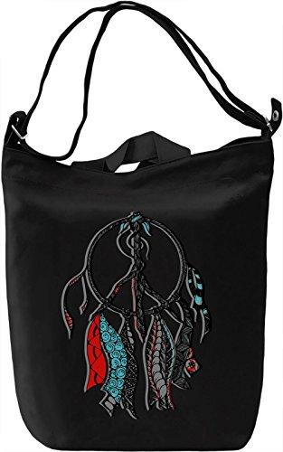 Graphic Dream Catcher Borsa Giornaliera Canvas Canvas Day Bag| 100% Premium Cotton Canvas| DTG Printing|