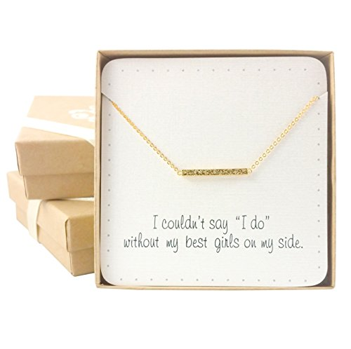Bridesmaid Gifts- Delicate Mini Bar Necklace (15