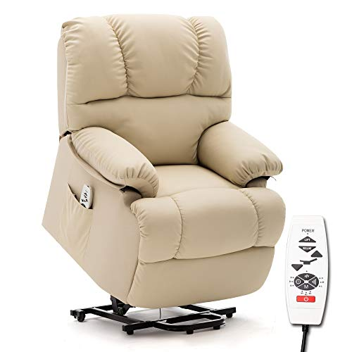 ERGOREAL Lift Chair, Electric Power Lift Recliner, Heat and Massage Large Recliner for The Elderly.(Beige)