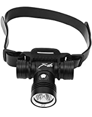 Headlamp, Aluminum Alloy 3.3x2.8x1.4in Headlamp Flashlight Supporting 20~40m Dive Distance for Camping and Hiking for Adults