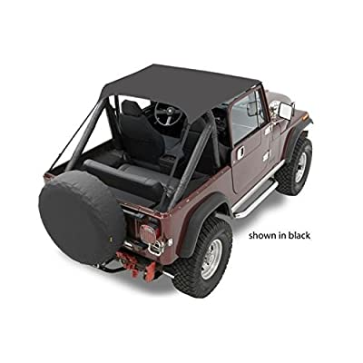 Bestop 52508-04 Tan Traditional Bikini Top for 1976-1991 CJ-7, CJ-8 Scrambler and Wrangler: Automotive