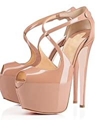 Women's Shoes Sexy Stiletto Heel Heels 16cm High Heels Wedding / Office & Career / Party & Evening Black / Almond Pumps