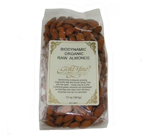ORGANIC RAW ALMONDS 5 LB by Gold Mine Natural Food Co.