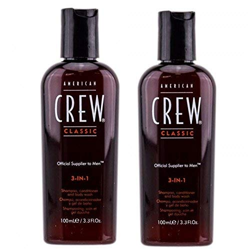 American Crew Classic 3-in-1 Shampoo, Conditioner, and Body Wash 3.3 Ounces (2-pack) by American Crew