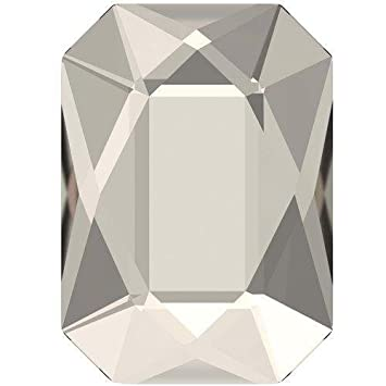 Swarovski 2602 Flatback Crystals Non Hotfix Emerald Cut | Graphite | 14x10mm - Pack of 4 | Small & Wholesale Packs