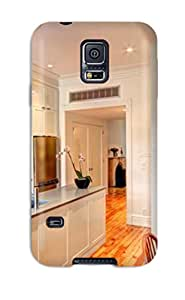 Galaxy S5 Cover Case - Eco-friendly Packaging(white Shaker Kitchen With Center Island)