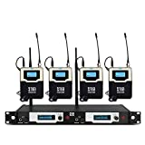 XTUGA RW2090 Double Channel Wireless in-Ear Monitor System Metal Receiver with Detachable Antenna Used for Stage or Studio (4 RECEIVERS)