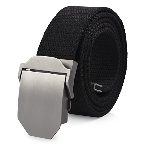 Vbiger Canvas Web Belt Military-Style Adjustable Waist Web Belt for Men and Women (50