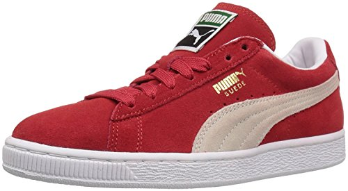 Puma Womens Suede Classic Sneaker, High Risk Red/White, 40.5 B(M) EU/7 B(M) UK