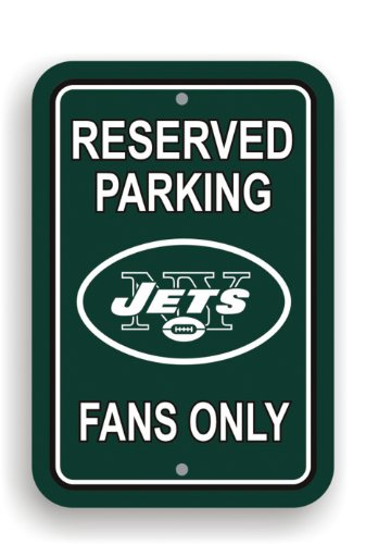NFL New York Jets Plastic Parking Sign