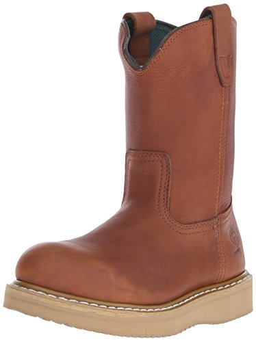 Georgia Men's Wedge Wellington M Steel Toe Work Boot, Barracuda Gold, 11 M US (Toe Steel Wedges Resistant Slip)