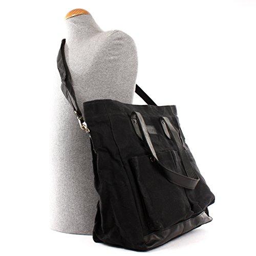 en bandoulière en Sac LECONI à en bandoulière sac et Sac toile unisexe à dentelle Grand Sac Style XL cuir bagages en bandoulière à sac Sac main à LE0040 C Noir 35x39x20cm Weekender Sac Vintage à wqqC1I