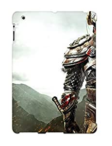 Anti-scratch And Shatterproof Dual Wielding Barbarian Phone Case For Ipad 2/3/4/ High Quality Tpu Case