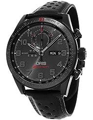 Oris Artix GT Audi Sport Chronograph Black Dial Black Leather Watch 778-7661-7784SET