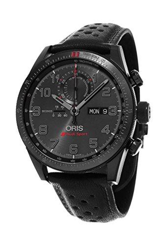 Oris Artix GT Audi Sport Chronograph Black Dial Black Leather Watch 778-7661-7784SET Limited Edition Black Dial