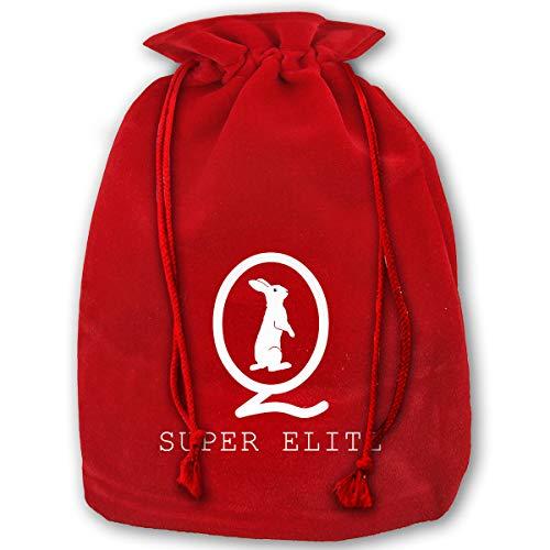 NYSOUVENIRS Bag QAnon Super Elite Merry Christmas Drawstring Beam Port Canvas Storage Bag Gift Bag Hometom Christmas