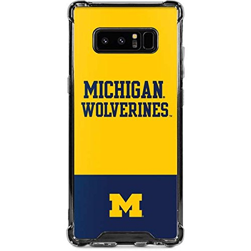 Skinit Michigan Wolverines Split Galaxy Note 8 Clear Case - Skinit Clear Case - Transparent Galaxy Note 8 Cover