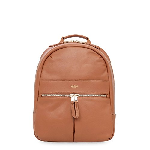 Knomo Luggage Mayfair Luxe Mini Beaux Backpack 10-Inch, Caramel by Knomo