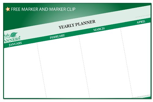 Sticky-Note 12-Month Objectives Planner 24 in x 38 (Monthly Visual Project Wall Planner)
