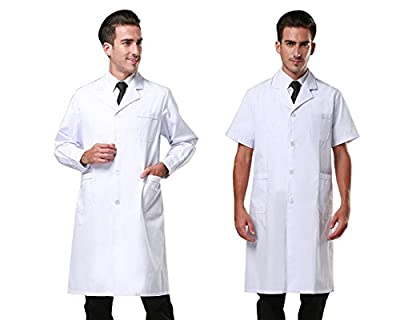 Nachvorn Professional Unisex Lab Coat Workwear Scrubs Uniform