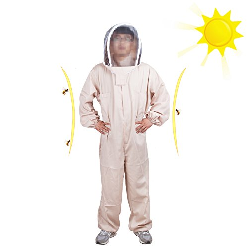 Novo Bee Protective Clothing,Bee Proof Suits Alize Professional Bee Keeper's Suit,Large,Coffee by NOVO