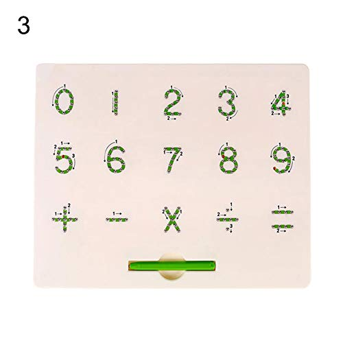 shengyuze Learning & Education Toys Magnetic Beads Drawing Board Mathematics Number Alphabet Educational Kids Toy for Boys and Girls Hobbies Game - 3# from shengyuze