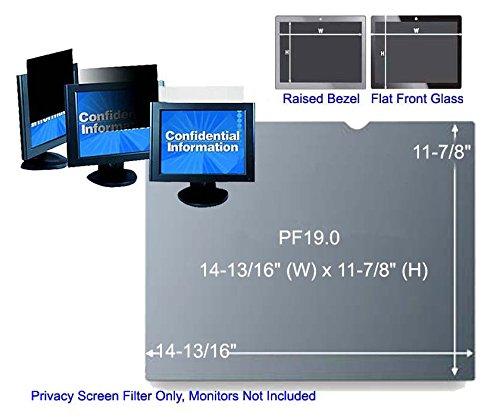 3M PF19.0 Black Frameless Privacy Filter for Desktop 19 LCD Standard Monitor 5:4 161372A