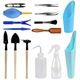 15 Piece Succulent Garden Hand Tools Miniature Fairy Garden Planting Transplanting Tool Set - Improve Your Gardening Quality of Life