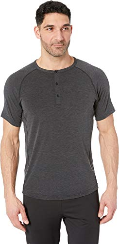 Brooks Men's Cadence Short Sleeve Top Heather Black Medium