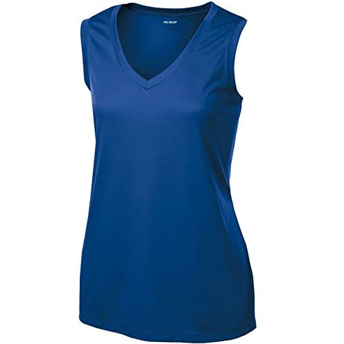DRI-EQUIP Ladies Moisture Wicking Muscle Tank Athletic T-Shirt in Sizes XS-4XL free shipping