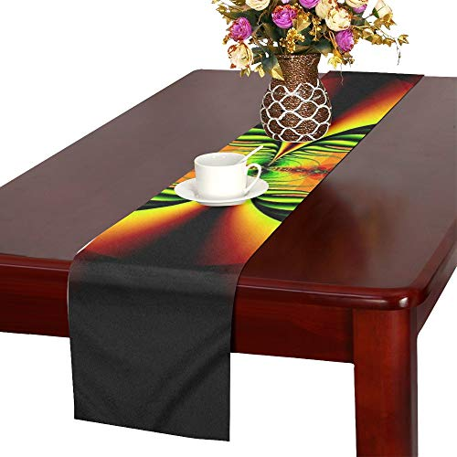 Digital Art Artwork Colorful Poster Fractal Design 1442735 Table Runner, Kitchen Dining Table Runner 16 X 72 Inch for Dinner Parties, Events, Decor