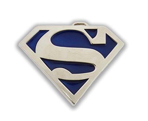 (Superman Return Belt Buckle DC Comics Logo Icon Metal Fashion Costume Unisex New (Blue Translucent) )