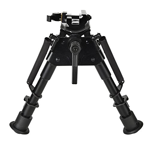 CVLIFE 6-9 Inches Rifle Bipod with Pivot Lock for Shooting Quick Release Adapter Included