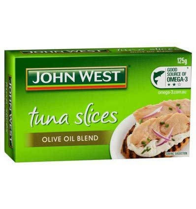 (John West Tuna Tempters Slices In Olive Oil 125gm)