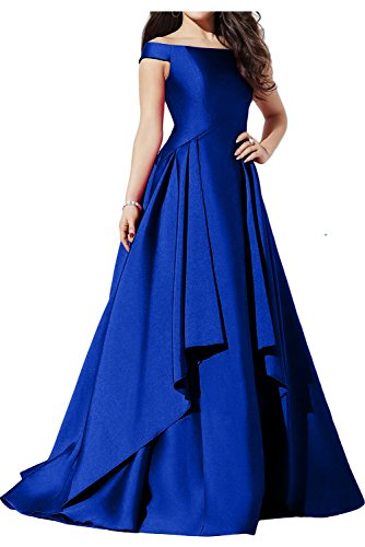 Ballkleider Ivydressing Partykleid Neu Royalblau Abendkleider Satin Lang Neu Glamour OnHxq4nXP
