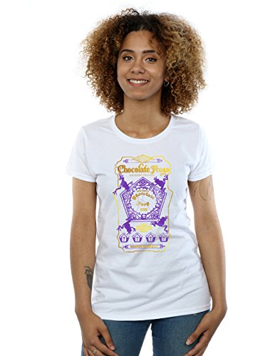 HARRY POTTER Women's Chocolate Frogs Coloured Label T-Shirt X-Large White