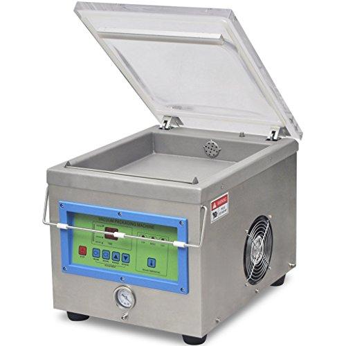 vidaXL Profi Vakuumierer Vakuummaschine Verpackungsmaschine Edelstahl 350 W
