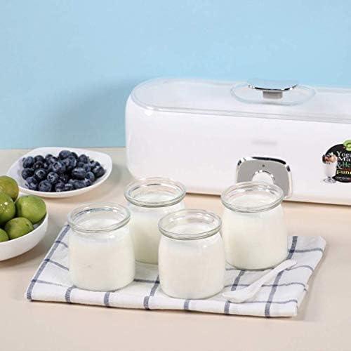 SCJ Mini Machine de Fabricant de Yaourt, Machine de Fermentation Automatique avec la Tasse en Verre, pour la Maison et Le dortoir