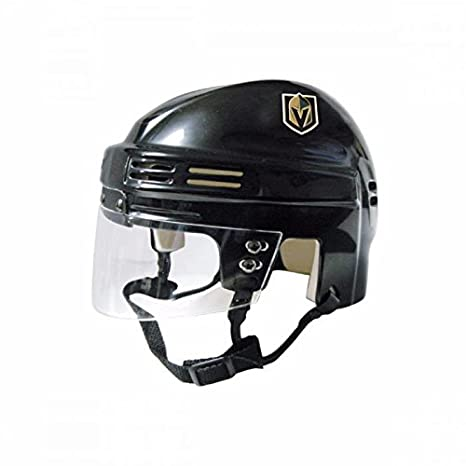 41d4f453a Image Unavailable. Image not available for. Color  SportStar NHL Vegas  Golden Knights Replica Mini Hockey Helmet ...