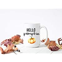 Hello Pumpkin Fall Mugs, Fall Gifts, Cute Coffee Mug for Fall, Pumpkin Spice, Coffee Bar Home Decor, Fall Lover