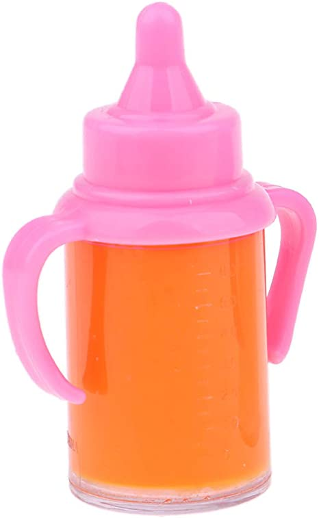 Single Bottle SM SunniMix Newborn Baby Doll Magic Feeding Bottle Reborn Milk Bottle with Pacifier Disappearing Fake Drinking Bottle