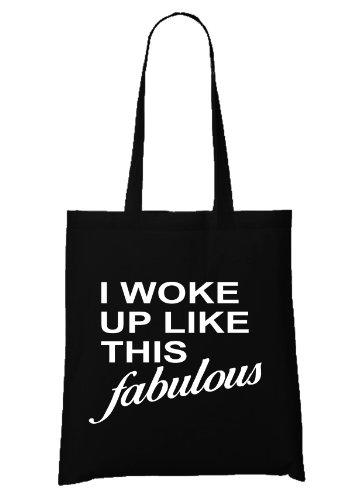 I Woke Up Like This Bag Black