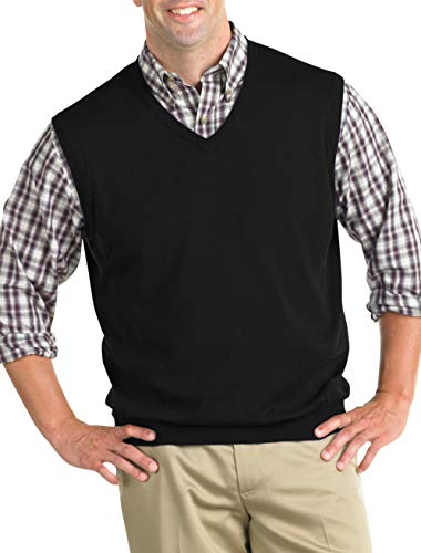 Harbor Bay by DXL Big and Tall V-Neck Sweater Vest ()
