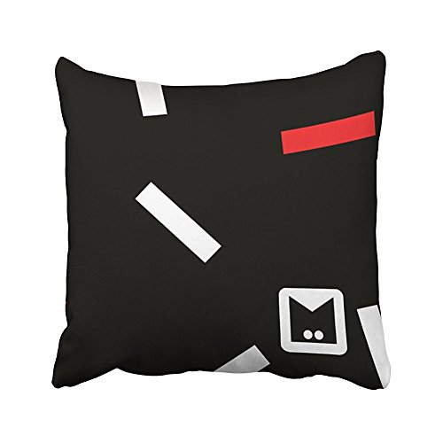 Kjalioeig-Throw Cushion Pillow Covers Seriess Monogram Series Memphis Stuck In The Eighties (Two Sides) Comfortable material Size: 18x18 Inch Pillowcase For Bed Chair Car Sofa Creative decoration (Furniture Patio 80s)