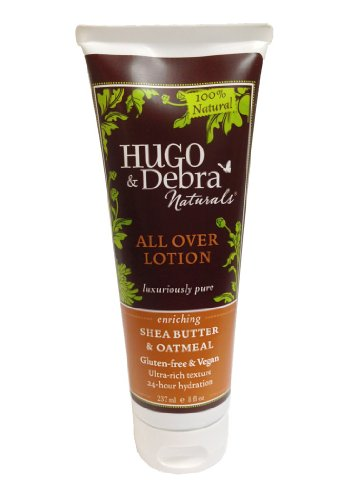 Hugo Naturals All Over Lotion, Shea Butter and Oatmeal, 8 Ounce Tube ()