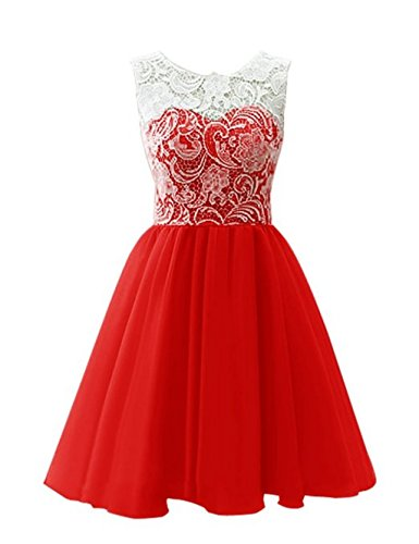 Homecoming Graduation Short CCBubble Dresses Red Dress Lace Homecoming c8xzq1Owv7